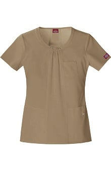 Xtreme Stretch by Dickies Women's Stylized Seam Solid Scrub Top