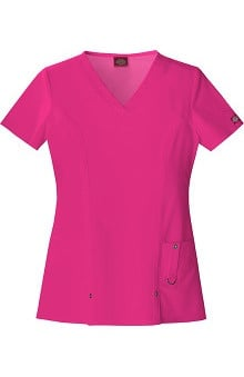 Evolution NXT by Dickies Women's V-Neck Solid Scrub Top