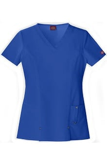 Evolution NXT by Dickies Women's Junior V-Neck Solid Scrub Top