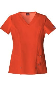 Clearance Evolution NXT by Dickies Women's V-Neck Solid Scrub Top
