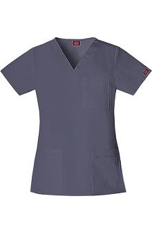 Gen Flex by Dickies Women's Youtility V-Neck Solid Scrub Top