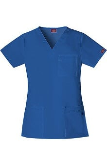 Clearance Gen Flex by Dickies Women's Youtility V-Neck Solid Scrub Top