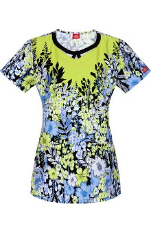 Fashion Prints by Dickies Women's Round Neck Print Scrub Top