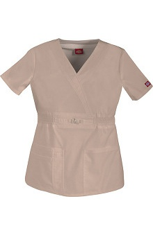 Gen Flex by Dickies Women's Mock Wrap Solid Scrub Top