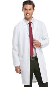 "EDS Professional Whites by Dickies with Certainty Plus Antimicrobial and Fluid Barrier Fabric Technology Unisex 40"" Lab Coat"
