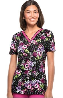 Everyday Scrubs Signature by Dickies Women's V-Neck Print Scrub Top