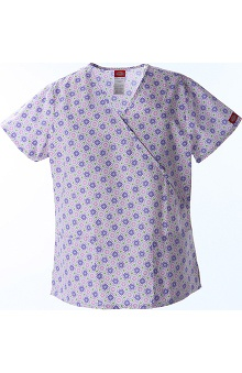 Clearance Fashion Prints by Dickies Women's Mock Wrap Print Scrub Top