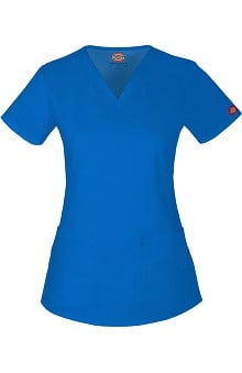 Clearance Evolution NXT by Dickies Women's Mock Wrap Solid Scrub Top