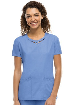 Clearance Everyday Scrubs Signature by Dickies Women's Round Neck Top