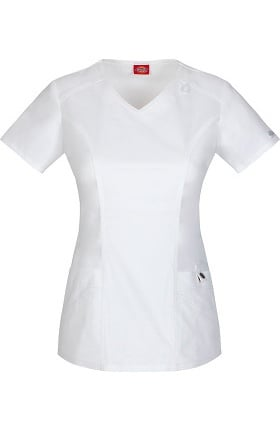 Gen Flex by Dickies Women's V-Neck Solid Scrub Top