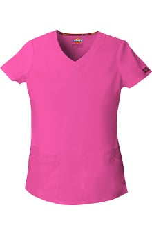 Clearance Everyday Scrubs Signature by Dickies Women's V-Neck Solid Scrub Top