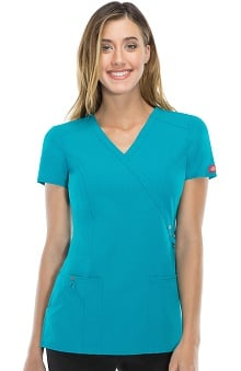 Xtreme Stretch by  Dickies Women's Mock Wrap Scrub Top