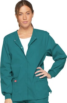 Everyday Scrubs Signature by Dickies Women's Snap Front Scrub Jacket