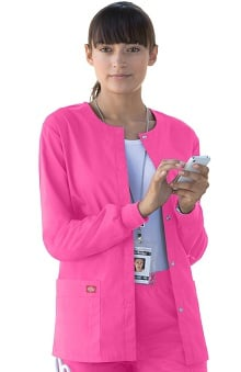 Clearance Everyday Scrubs Signature by Dickies Women's Snap Front Scrub Jacket