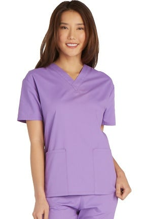 Everyday Scrubs Signature by Dickies Women's V-Neck Solid Scrub Top