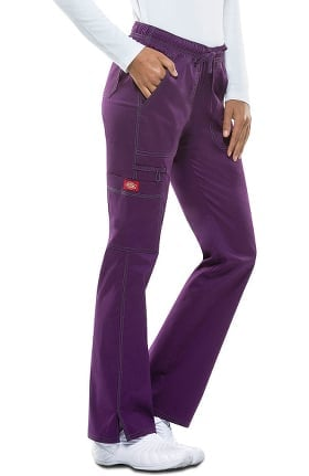 Gen Flex by Dickies Women's Low Rise Straight Leg Scrub Pant