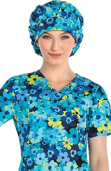 Breast Cancer Awareness by Dickies Unisex Camo Print Bouffant Scrub Hat