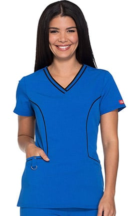 Xtreme Stretch by Dickies Women's V-Neck Solid Scrub Top