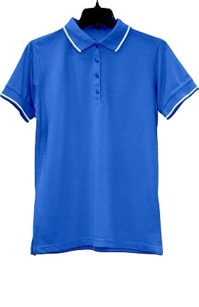 Edwards Garment Women's Short Sleeve Collar & Cuff Trim Polo