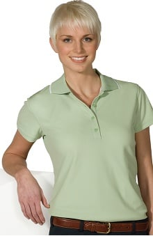 Edwards Garment Women's Short Sleeve Collar Trim Hi-Perform Polo