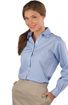 Edwards Garment Women's Long Sleeve Oxford Shirt