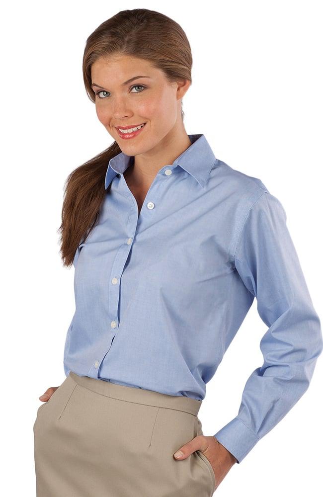 Edwards Garment Women 39 S Long Sleeve Oxford Shirt
