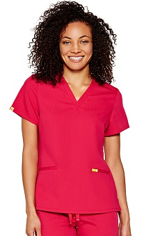 Clearance FIGS Women's Lots Of Pockets Antimicrobial Scrub Top
