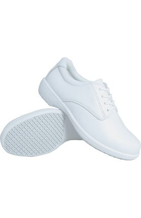 Genuine Grip Women's White Casual Oxford Shoe