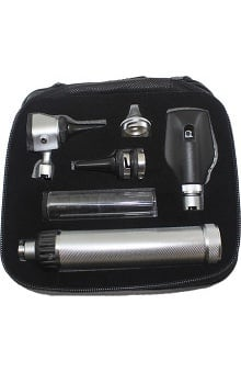 Gurin Professional 3.2V Otoscope & Ophthalmoscope Instrument Set With Leather Case