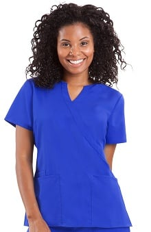 Purple Label Classic Fit by Healing Hands Women's Jaclyn Crossover V-Neck Scrub Top