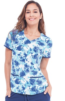 Clearance Premiere by Healing Hands Women's Jamie Floral Print Scrub Top