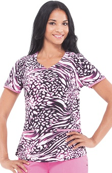Clearance Premiere by Healing Hands Women's Jamie Animal Print Scrub Top