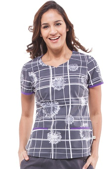 Premiere by Healing Hands Women's Jamie Sweetheart Neck Scrub Top