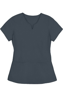 Clearance Purple Label Modern Fit by Healing Hands Women's Julie Notched V-Neck Solid Scrub Top