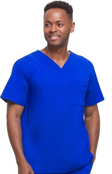 Blue Label for Men by Healing Hands Men's James V-Neck Solid Scrub Top