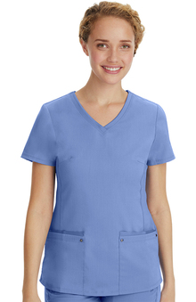 Purple Label Yoga by Healing Hands Women's Juliet V-Neck Scrub Top
