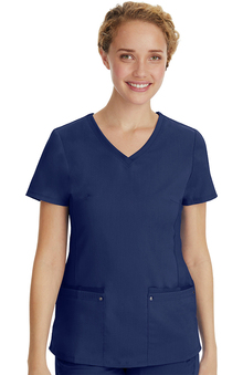 Purple Label Modern Fit by Healing Hands Women's Juliet V-Neck Scrub Top