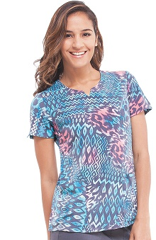 Clearance Premiere by Healing Hands Women's Bella Animal Print Scrub Top