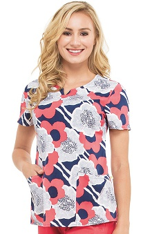 Premiere by Healing Hands Women's Bella Floral Print Scrub Top