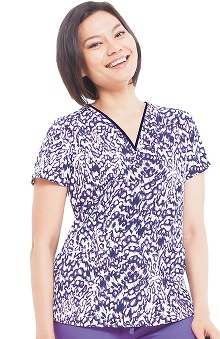 Premiere by Healing Hands Women's Amanda Abstract Print Scrub Top