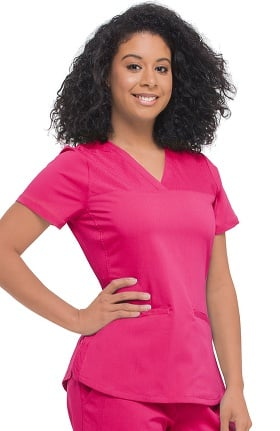 Purple Label Modern Fit by Healing Hands Women's Jade V-Neck Solid Scrub Top