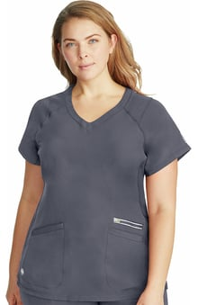 HH360° by Healing Hands Women's Serena V-Neck Solid Scrub Top