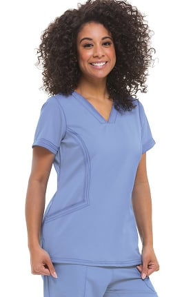 Purple Label Modern Fit by Healing Hands Women's Joni V-Neck Solid Scrub Top
