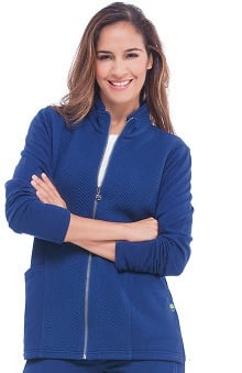 Healing Hands Women's Jolie Quilted Solid Scrub Jacket