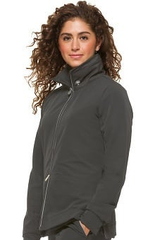 HH360° by Healing Hands Women's Carrie Double Zip Front Solid Scrub Jacket