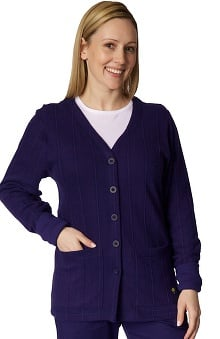 Clearance Healing Hands Women's Jennifer Cardigan Scrub Solid Scrub Jacket