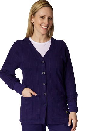 Clearance Knits by Healing Hands Women's Jennifer Cardigan Scrub Solid Scrub Jacket