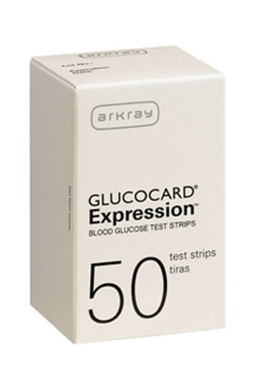 Glucocard Expression Blood Glucose Test Strips 50 Count