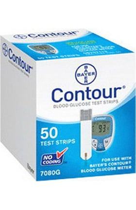 Bayer Contour Microfill Blood Glucose Test Strips