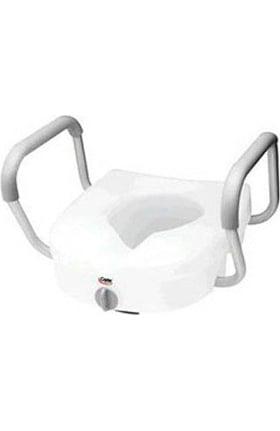 """Carex Health E-Z Lock Raised Toilet Seat 5"""""""